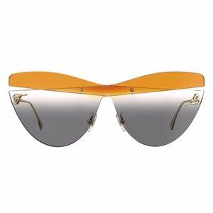 NWT Fendi FF Kalligraphy Grey Cat Eye Sunglasses